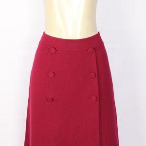 Talbots Skirts - BRAND NEW TALBOTS RED PONTE KNIT ALINE SKIRT 8